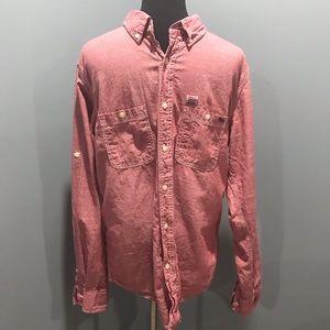 Men's Seven7 red chambray button down sz M
